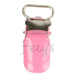Speenclip metaal 10mm - roze