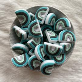 Rainbow bead round - turquoise/mint