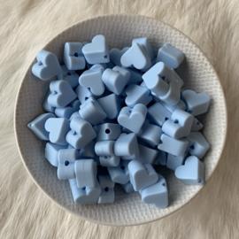 Klein hartje - zacht blauw