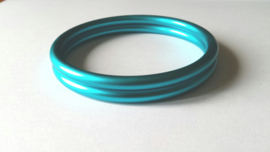 Slingrings size M - matte light blue