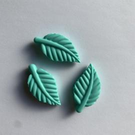 Blad kraal - licht turquoise