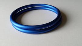 Slingrings size L - matte blue
