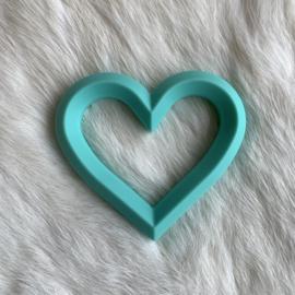 Hart met 2 gaten - licht turquoise