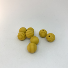 15mm striped - mustard
