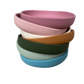 Silicone plate rainbow - ivory