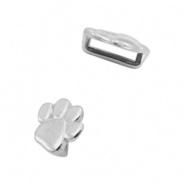 Schuiver - honden pootje zilver