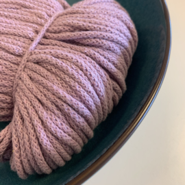 Macramé gevlochten koord - dusty pink