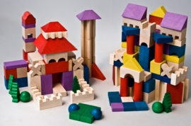 Fezy's Wooden blocks set XL (200 stk)