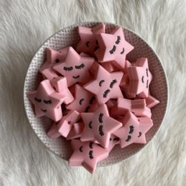 Slapend sterretje kraal - licht roze