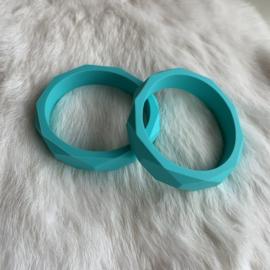 Armband siliconen - turquoise