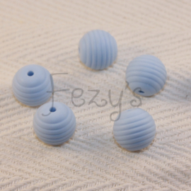 15mm striped - soft blue
