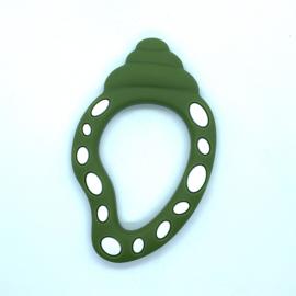 Slakkenhuis schelp - leger groen