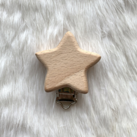 Speenclip hout - ster