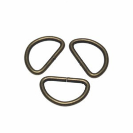 D-ring 25mm brons