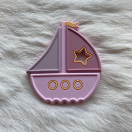 Boat teether - soft pink