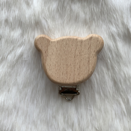 Speenclip hout - beertje