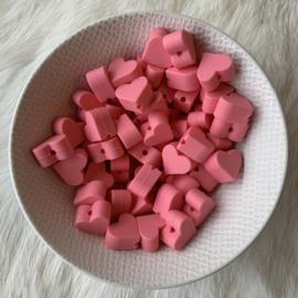 Klein hartje - koraal roze