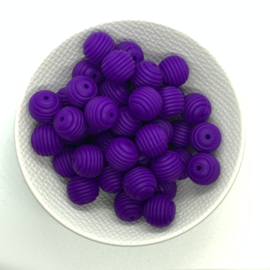 15mm striped - dark purple