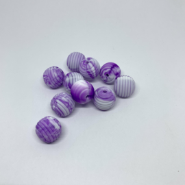 15mm striped - marble dark purple