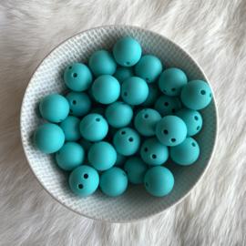 Veiligheids kraal 15mm - turquoise
