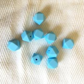 Kleine hexagon - baby blauw