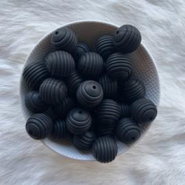 19mm geribbeld - zwart