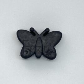 Vlinder kraal - zwart