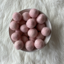 Vilten balletjes - oud roze