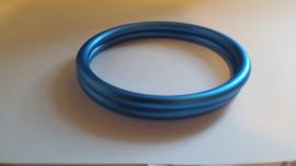 Slingringen maat L - cerulean blauw mat