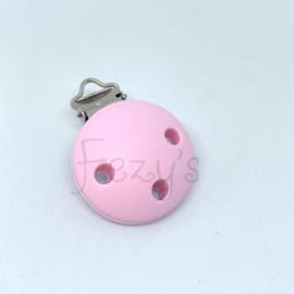 Speenclip siliconen - zacht roze