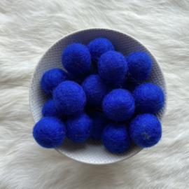 Vilten balletjes - fel blauw