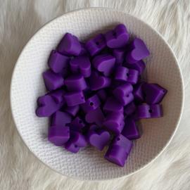 Klein hartje - donker paars