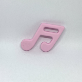 Muzieknoot - zacht roze