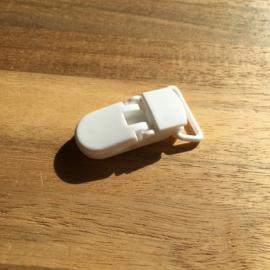 Pacifier clip plastic 20mm - white