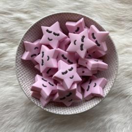 Slapend sterretje kraal - zacht roze