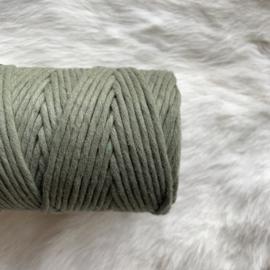 Macramé single twist - olijf