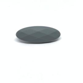 Smal ovaal - donker grijs