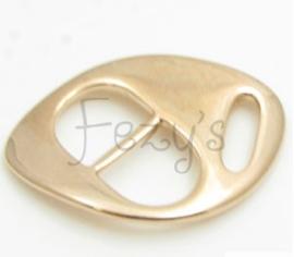 Schuifgesp armband - rosé goud