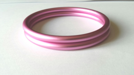Slingrings size L - matte light pink
