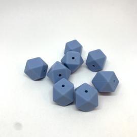 Kleine hexagon - poeder blauw