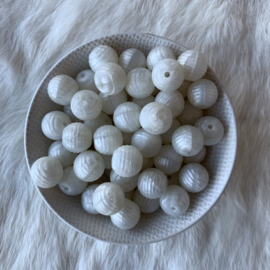 15mm striped - pearl white