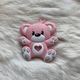 Bear teether - light pink