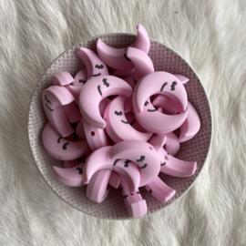 Slapend maantje kraal - zacht roze