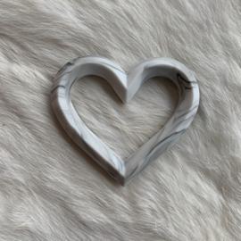 Hart met 2 gaten - marmer