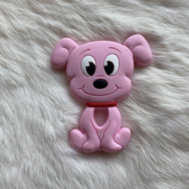 Dog teether - soft pink