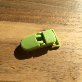 Pacifier clip plastic 20mm - green