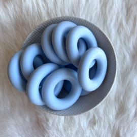 Donut ring - zacht blauw