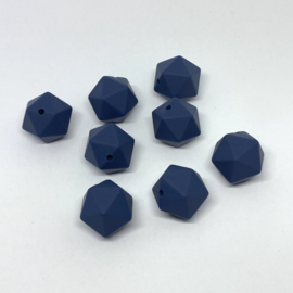Icosahedron 17mm - nacht blauw