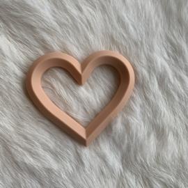 Hart met 2 gaten - perzik