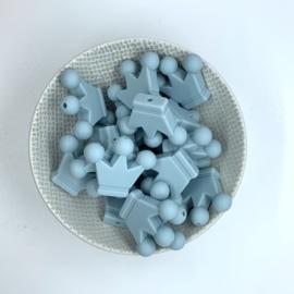 Kroontje kraal - oud blauw